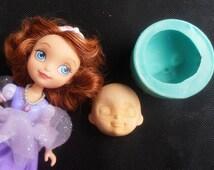 Silicone Mould / Princess Sofia the First face / Cake Decorating Fondant / fimo mold