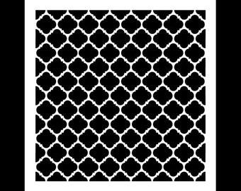Colonial Mosaic-Pattern Stencil-Select Size-STCL692