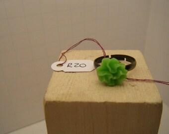 Green Ring - Mum Flower Ring - Adjustable ring - R20