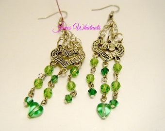 Earrings - Green Dangle
