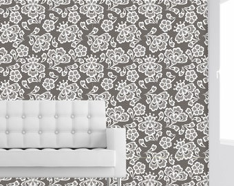 Grey Knit Sweater Self Adhesive Removable Wallpaper By