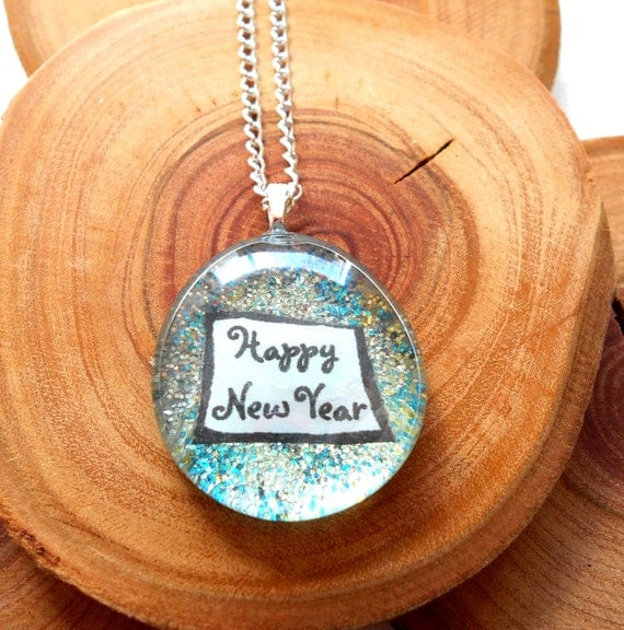Happy New Years Necklace New Years Eve by TheLovelyParadox
