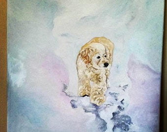 Customized Acrylic Pet Painting 18in x 24in