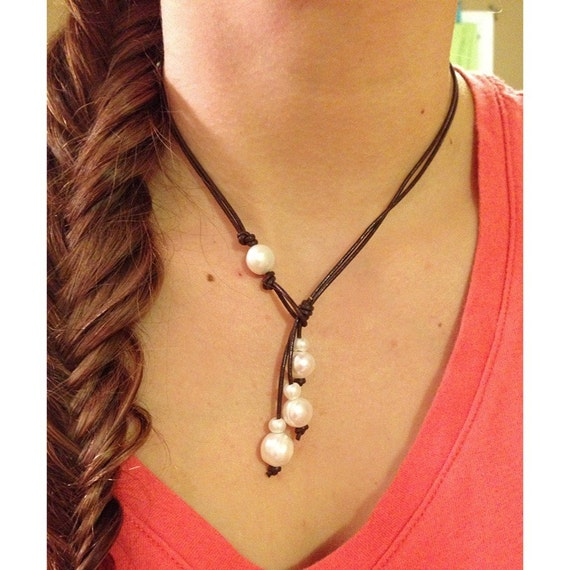 how to make a leather lariat necklace