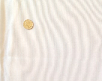 Ribbed Cotton knit Fabric white
