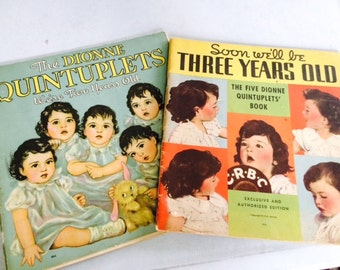 Set of  two The Dionne Quintuplets books