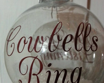 "Mississippi State ""Cowbells Ring, Are You Listening"" Christmas Ornament"