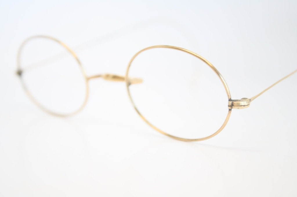 Gold And Silver Eyeglass Frames : Antique Eyeglass Frames Vintage Gold Glasses Frames Oval