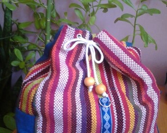 NEW!!Large bag, embroidered in Ethno Style, handmade from cotton.