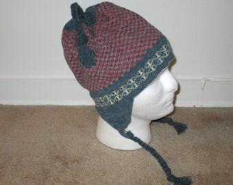 Checkerboard ski hat