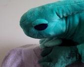 Large Sleepy Guardian Dragon Plush - Soft and Cuddly, with Gemstone Eyes