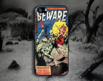 Vintage Horror Comic - The Bell Tolls Death -   iPhone & Samsung Protective Phone Case