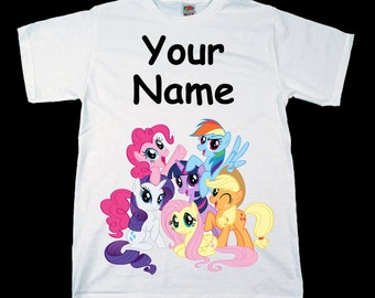 My Little Pony Personalised Kids Tee T-Shirt T Shirt