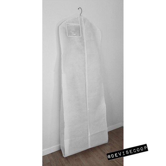 Garment Bag Wedding Gown Breathable Back Clear Vinyl By
