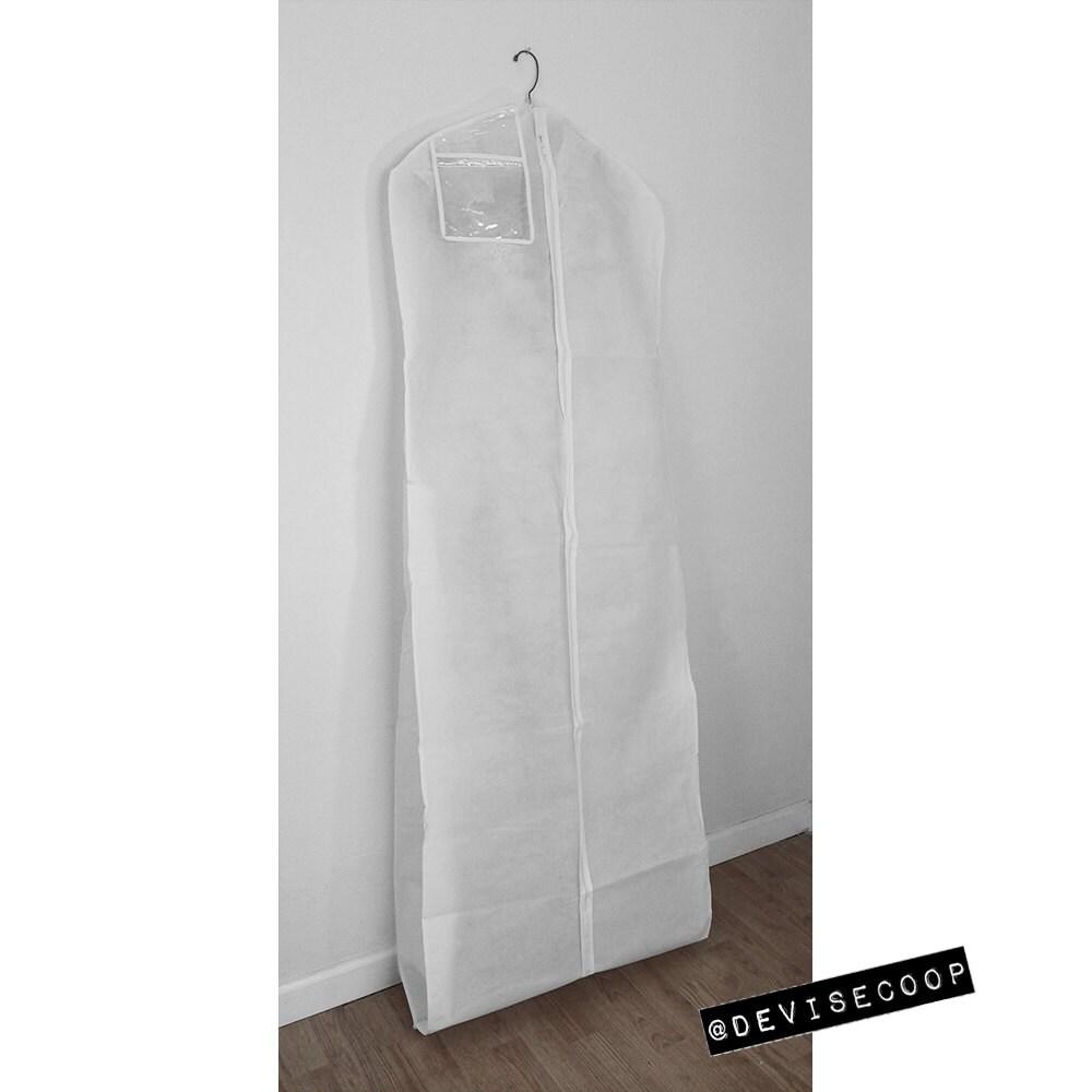 clear vinyl wedding dress bags