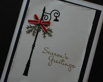 Street Lamp Season's Greetings Christmas Card