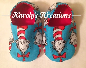 Crib shoes, baby slippers, baby shoes, Dr Seuss shoes