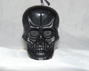 Black Skull Candle Gardenia Scented