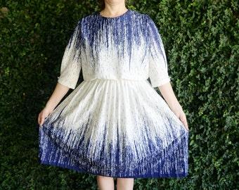 Blue Rain Vintage Dress