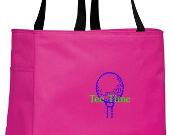 Personalized Golf Tropical Pink Essential Tote with FREE Personalization & FREE SHIPPING    B0750