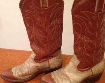 Brown & tan cowboy boots size 9 Women's
