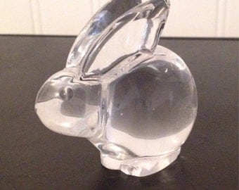 Collectible solid glass bunny/rabbit- cute