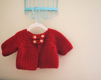 Crochet Button Baby/Toddler Jacket