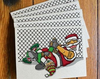 Jiu Jitsu Santa Christmas Cards – Set of 10