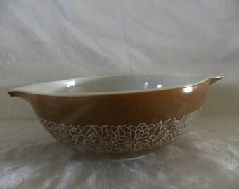 Pyrex Woodland Brown Cinderella Bowl  No.444