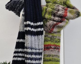 handknitted chuncky scarf