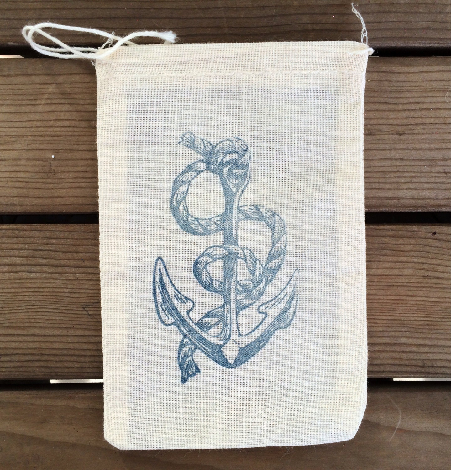 Wedding Gift Bags Beach Theme : Nautical Favor Bags Beach Wedding Favor Bags Anchor Favor