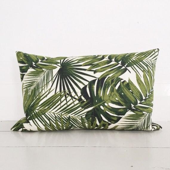 feuilles de palmier lin naturel coussin housse coussin. Black Bedroom Furniture Sets. Home Design Ideas