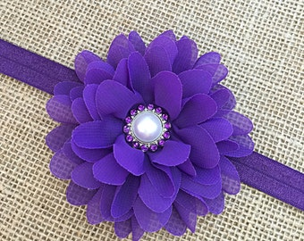 Newborn Headband, Purple Newborn Headband, Headband for Newborn, Baby Girl Purple Headband, Headband for Toddler, Girls Headband