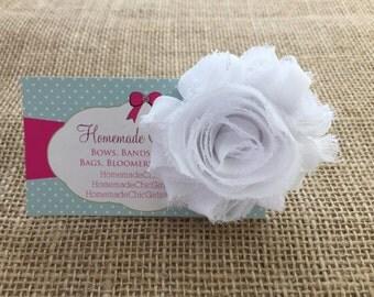 White flower hair clip, Hair clip for Girls, Babies hair clip, Girls white flower hair clip, Hair clip for toddler, Flower hair clip