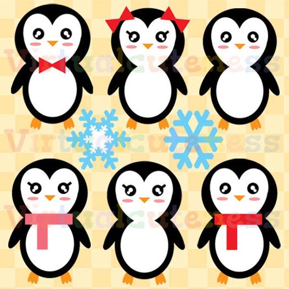 pinguin clipart weihnachten clipart s e von virtualcuteness. Black Bedroom Furniture Sets. Home Design Ideas