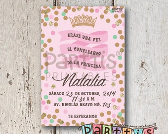 Princess Party Printable Invitation
