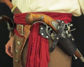 Pirate leather gun holster