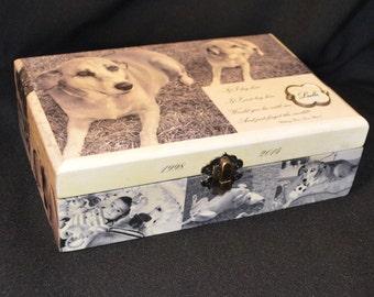 """Pet Memorial Box 8.25""""x5.625""""x2.5"""""""
