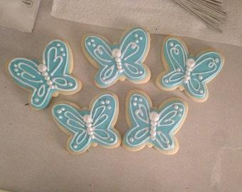 Cute Butterfly Cookies - One Dozen (12)