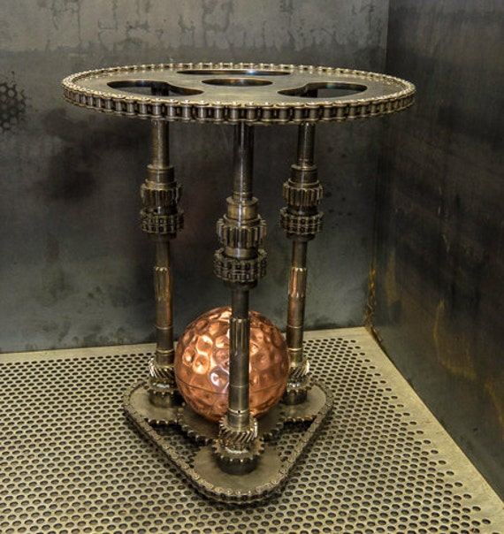 steampunk end table steampunk industrial end table 694