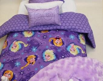 Extra batting - 6 pcs Purple Disney Frozen bedding for 18