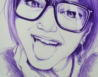 Portrait using Ballpoint Pen