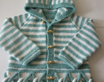 Hand Knitted Baby Cardigan Jacket Original Design For By