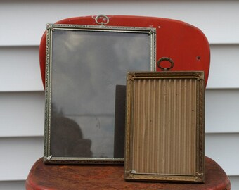 2 Gold Metal Picture Frames