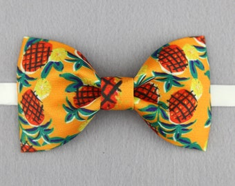 Pineapple Bowtie - Modern Boys Bowtie, Toddler Bowtie Toddler Bow tie,Pre Tied and Adjustable