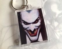 DC Comics Merchandise/ Batman /The Joker / Keyring / Vintage comic book covers / DC / Gift / Keychain / Geekery / superheroes keyring