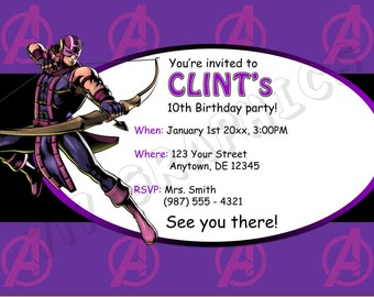 Hawkeye Birthday Invitation - Printable