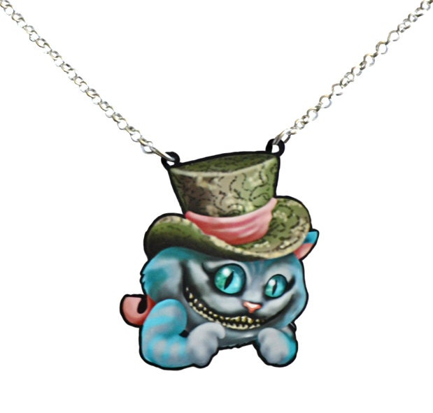 in cheshire cat necklace