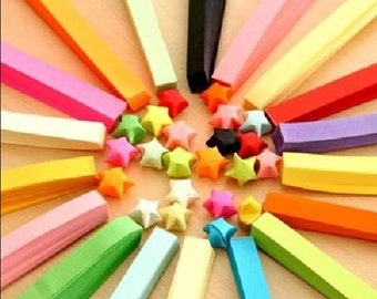 Custom colors Origami Star Paper Kit Rainbow paper Strips Lucky Wishing Star paper strips one bag 85 pcs strips DIY Valentine gift