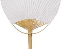 25 Paper Paddle Fans for Weddings. Special Events. Parties